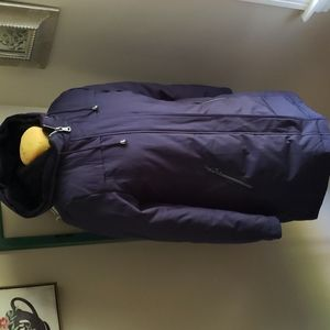 Vince Camuto down parka winter coat navy blue